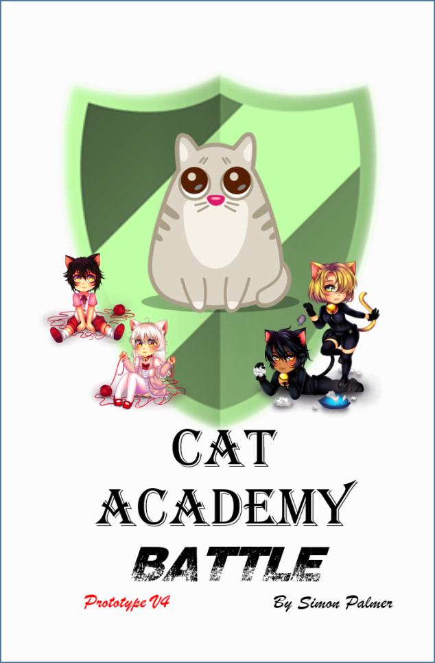 Cat academy battle, cute kids game