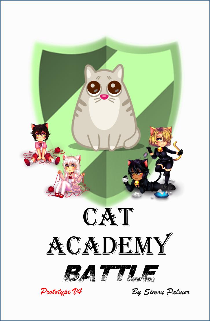 Cat academy battle, cute kids game
