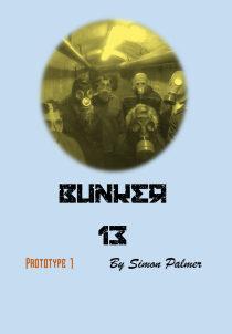 Bunker 13 card game where players are stuck in a nuclear bunker/vault
