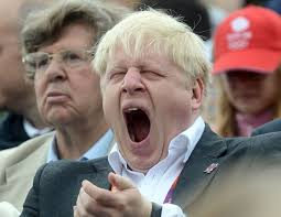 Boris Johnson yawning
