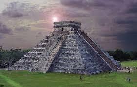 An aztec temple