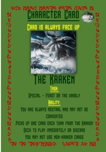 Kraken character card for SS Sandbrook game
