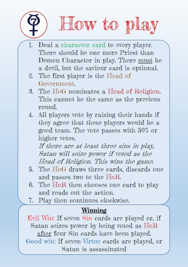 Game rules based on secret hitler