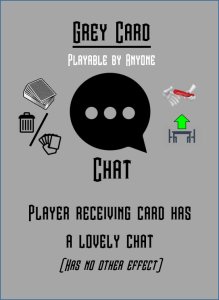 Chat game card which does nothing