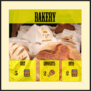 Bakery card, an upgrade from the Mill