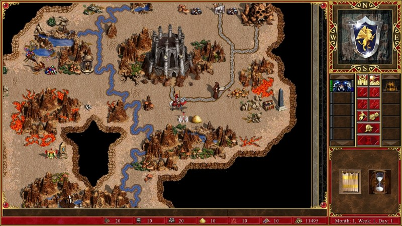 Heroes of might and magic castle view