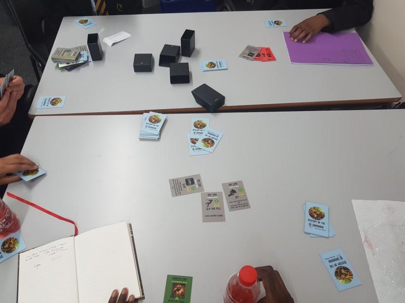 Playtesting SS Sandbrook card game