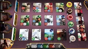 Game screen of Splendor showing the cards and resource