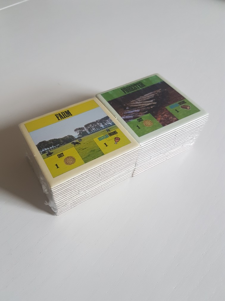 A stack of cards for village life